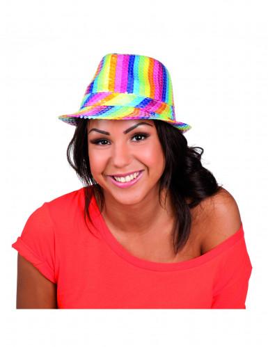 Pailletten Hut bunt Erwachsene