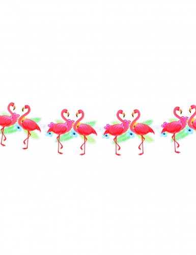 Hawaiianische, rosa Flamingo-Girlande aus Pappe