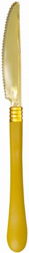 10 Plastikmesser - gelb
