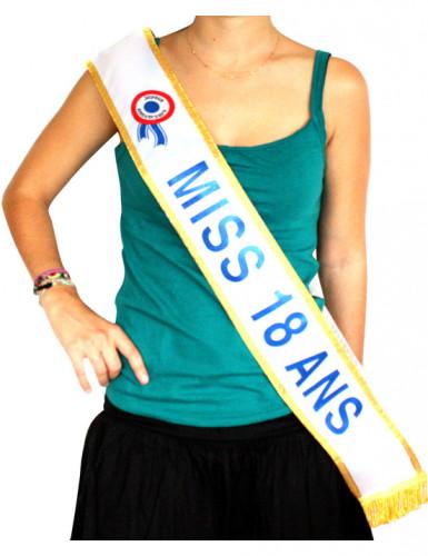 Schärpe Miss 18 ANS