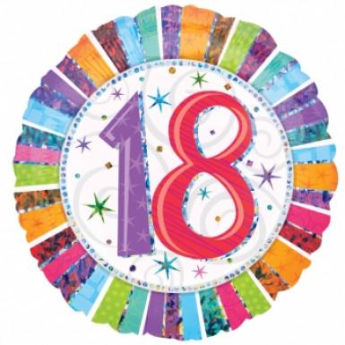 Luftballon aus Alu zum 18. Geburtstag