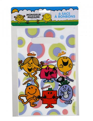 6 Süßigkeitentaschen Monsieur Madame