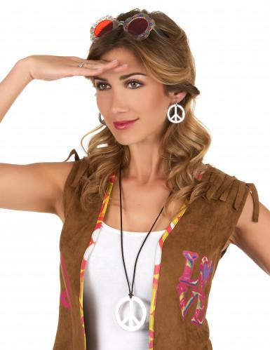 Hippie-Kette und -Ohrringe für Erwachsene-1