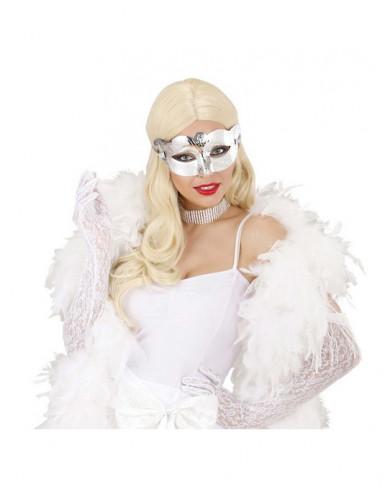 Augenmaske in Silbermetallic für Erwachsene