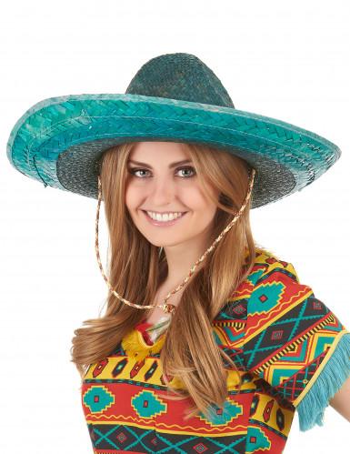 Grüner mexikanischer Sombrero für Erwachsene-2