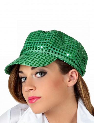 Grüne Disco-Kappe für Erwachsene