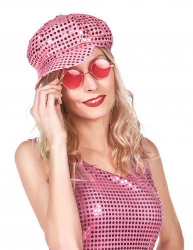 Rosa Disco-Kappe für Erwachsene
