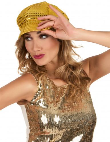 Goldene Disco-Kappe für Erwachsene