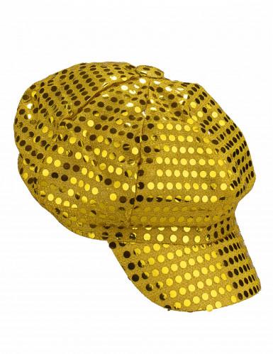 Goldene Disco-Kappe für Erwachsene-1