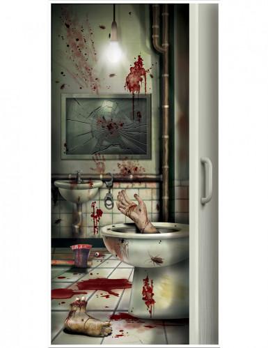 Halloween Blutiges Badezimmer Türdeko