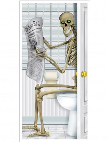 Skelett auf dem WC - Türdeko
