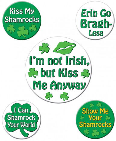 Witzige Buttons St. Patrick's Day