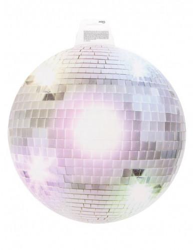Silberne Disco-Kugel Wanddeko-1