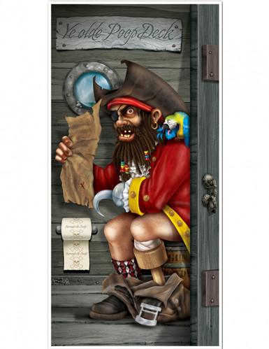 Pirat auf dem WC - Türdeko