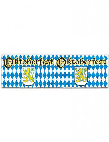 Blau-weißer Oktoberfest-Banner