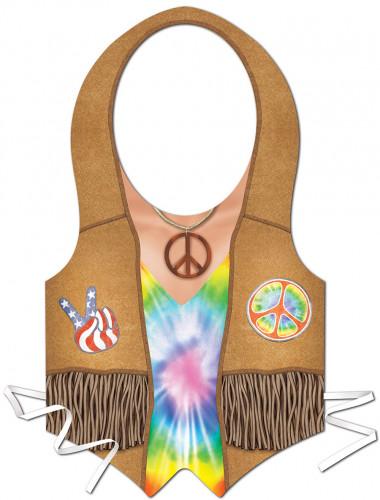 Hippie Kunststoff-Schürze für Herren