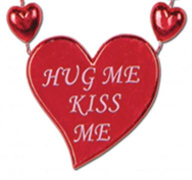Rote Halskette mit Valentins-Herzen-1