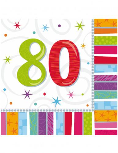 Papierservietten 80. Geburtstag