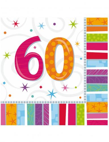 16 papier Servietten 60 Jahre