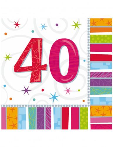 16  40 Jahre  Papier Servietten