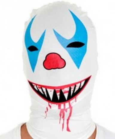 Mörderischer Clown Morphsuits™-Maske