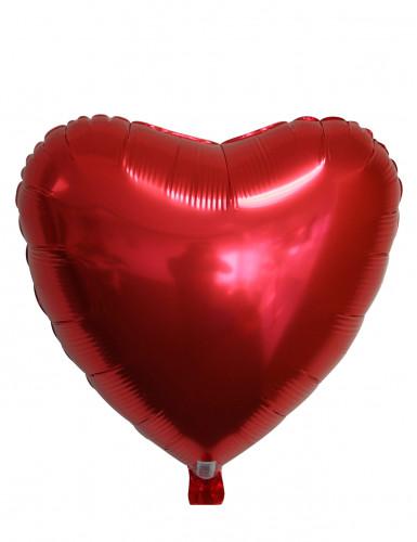 Aluminium-Luftballon rotes Herz