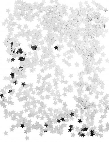 Silberene Sternenkonfetti in Metallikoptik-1