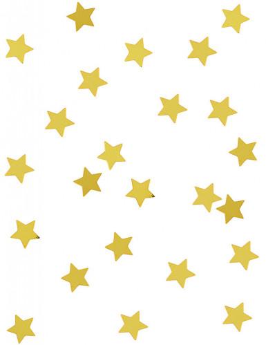 Goldene Sternenkonfetti in Metallikoptik