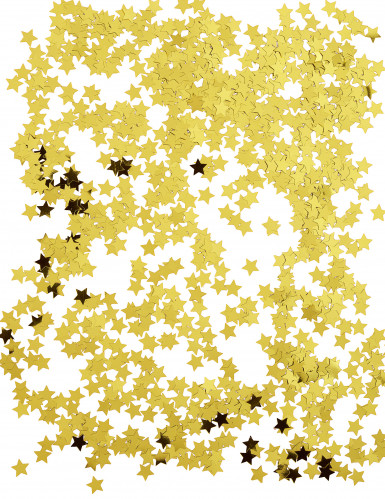 Goldene Sternenkonfetti in Metallikoptik-1