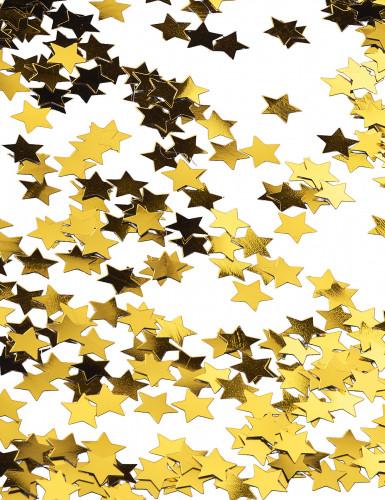 Goldene Sternenkonfetti in Metallikoptik-2