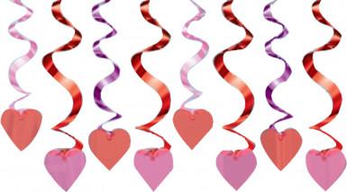 Hänge-Dekoration - Rote Herzen - Valentinstag