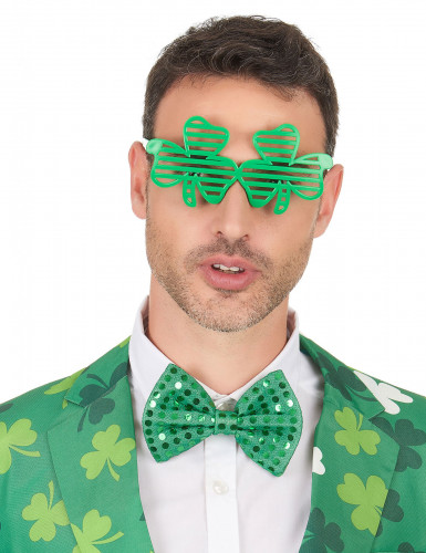 Lustige Kleeblatt-Brille St. Patrick's Day grün-2