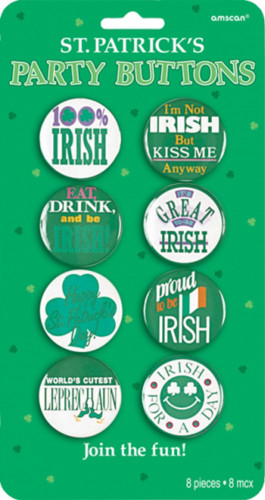 Irisches Button-Set für St. Patrick's Day