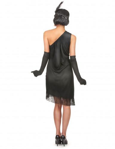 Charleston Kleid schwarz-rot für Damen-2