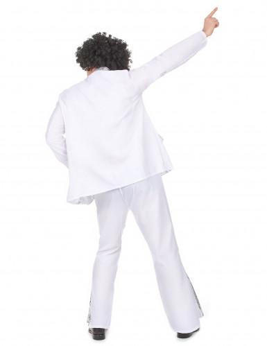 Weiß-silbernes Disco-Kostüm für Herren-2