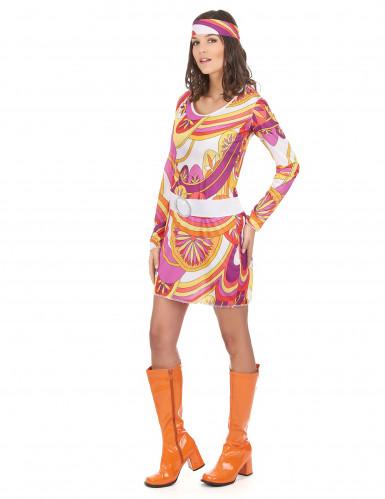Fetziges Hippie-Kostüm für Damen-1