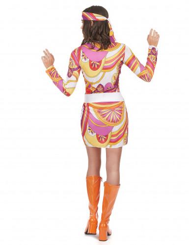 Fetziges Hippie-Kostüm für Damen-2