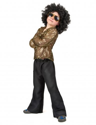 Goldenes Disco-Kostüm mit Pailletten für Jungen-1