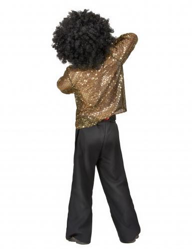 Goldenes Disco-Kostüm mit Pailletten für Jungen-2