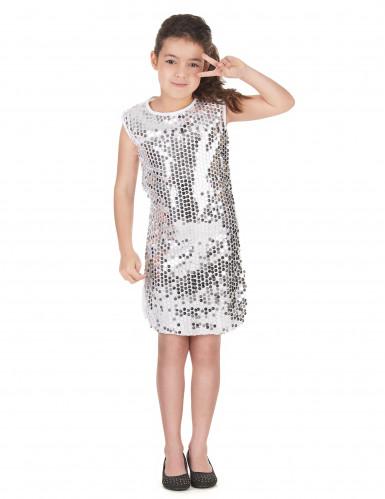 Disco Pailletten-Kostüm für Mädchen