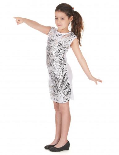 Disco Pailletten-Kostüm für Mädchen-1