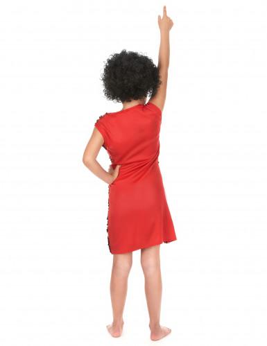 Rotes Disco-Kostüm mit Pailletten für Mädchen-2
