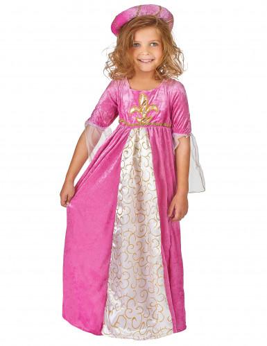 Mittelalterliches Prinzessinnen-Kostüm für Mädchen-1
