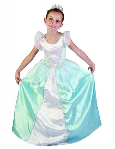 Blaues Prinzessinnen-Kostüm für Mädchen