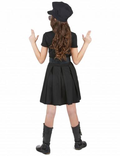 Polizei-Kostüm mit Kappe für Mädchen-2