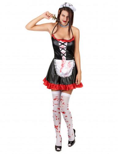 Blutiges Zofen-Kostüm für Damen-1