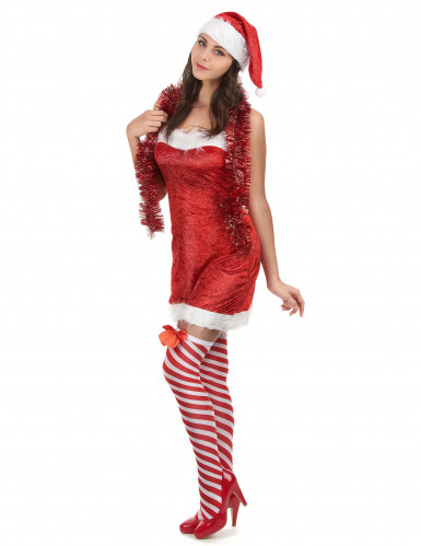 Weihnachts-Damenkostüm rot-weiss-1
