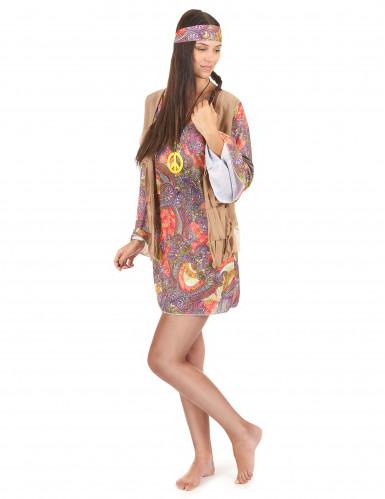 Buntes Hippie-Kostüm für Damen-1