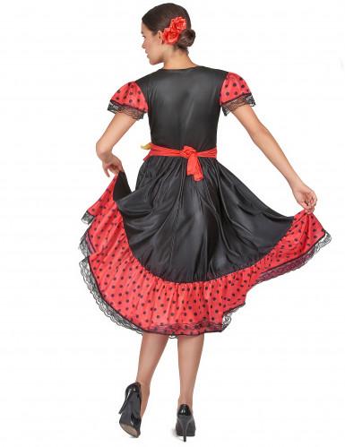 Gepunktetes Flamenco-Tänzerinnen-Kostüm für Damen-2