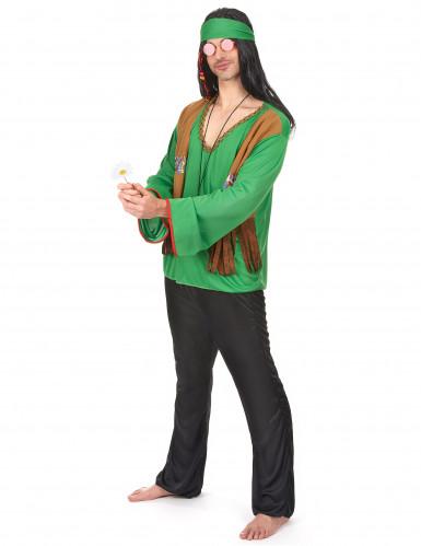 Grünes Hippie-Kostüm für Herren-1